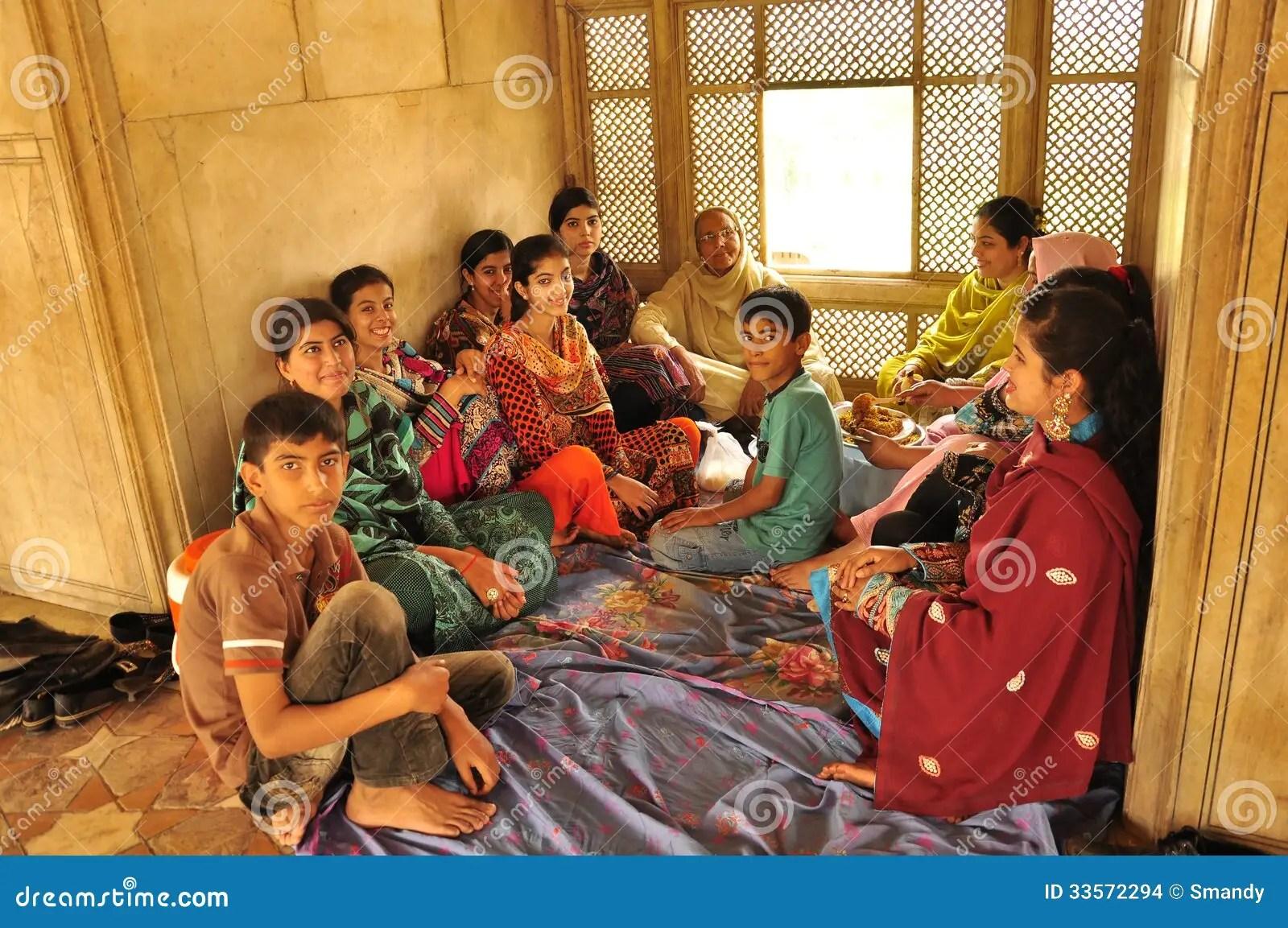 Pakistani Family Having Lunch Editorial Stock Image