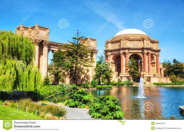 Palace of Fine Arts San Francisco in California Fotos