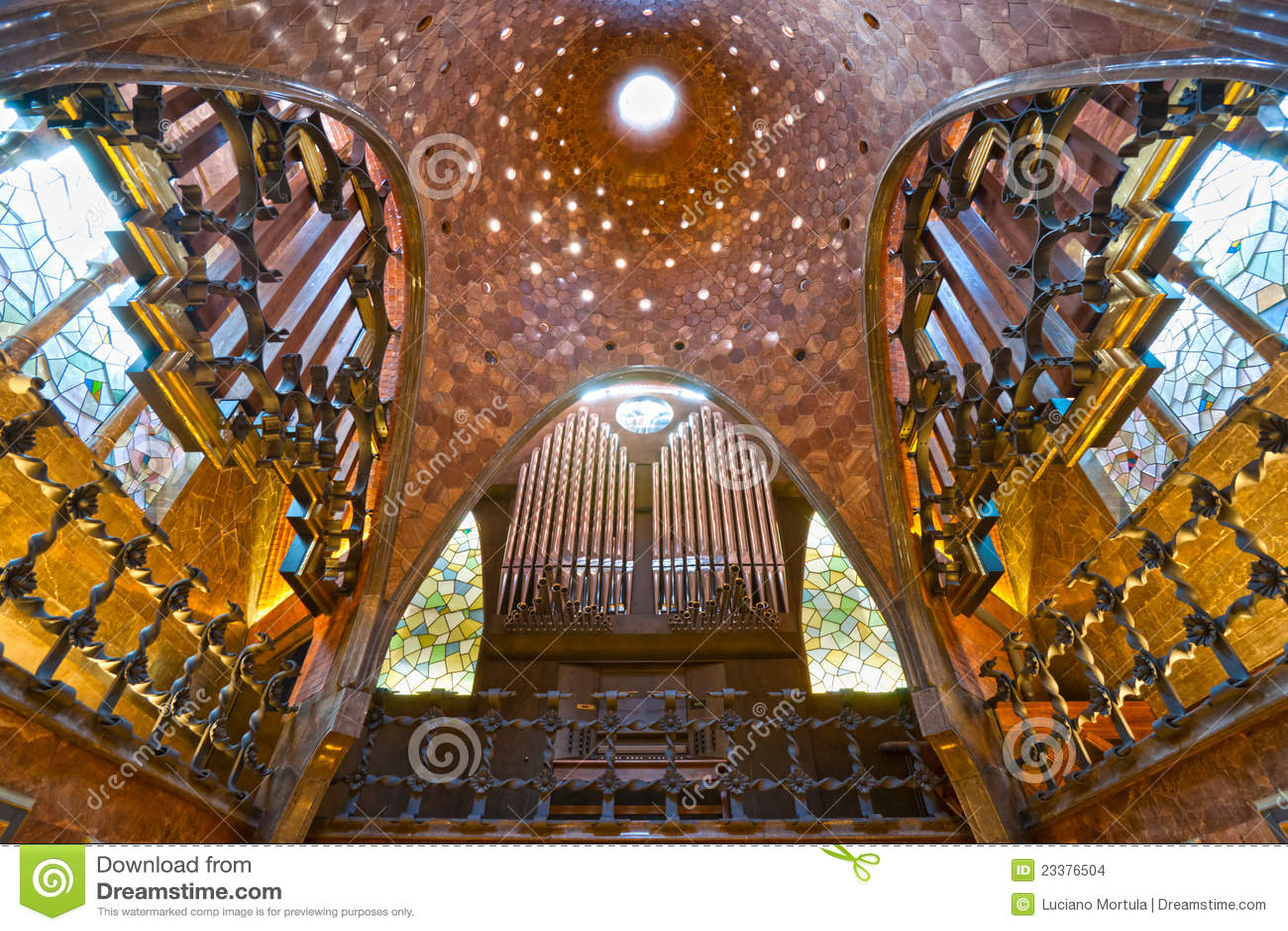 Palau Guell Barcelona Spain Stock Photo  Image of chimney europe 23376504