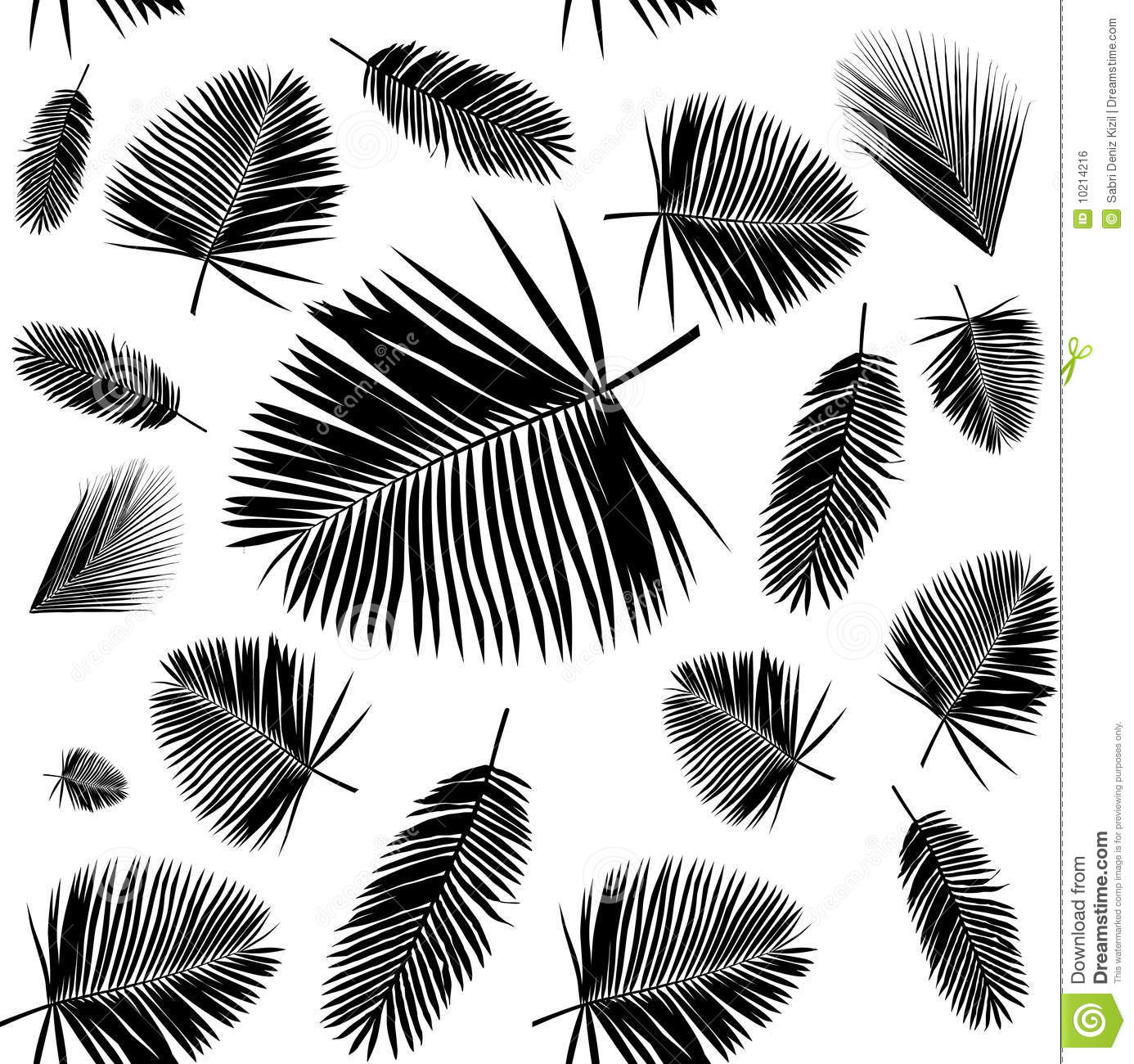 Palm Leaf Seamless Pattern Royalty Free Stock Image