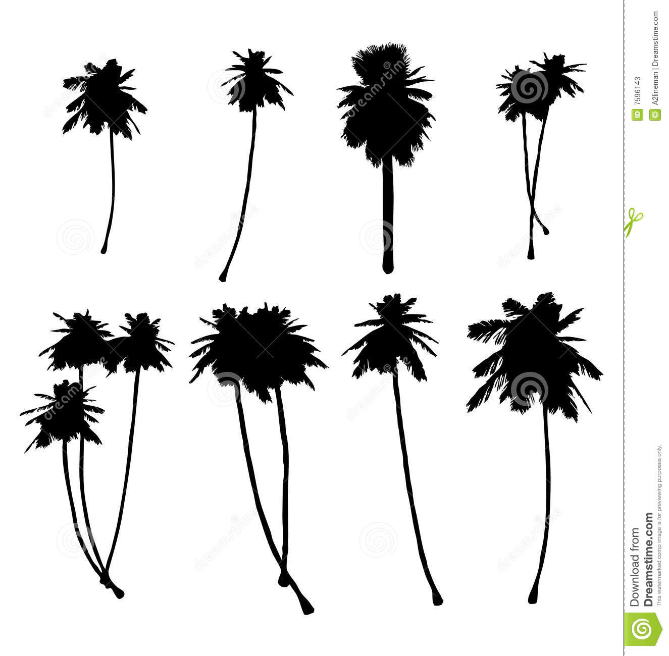 Palm Tree Silhouette S Stock Vector Illustration Of