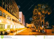 Daytona Beach Florida Boardwalk at Night