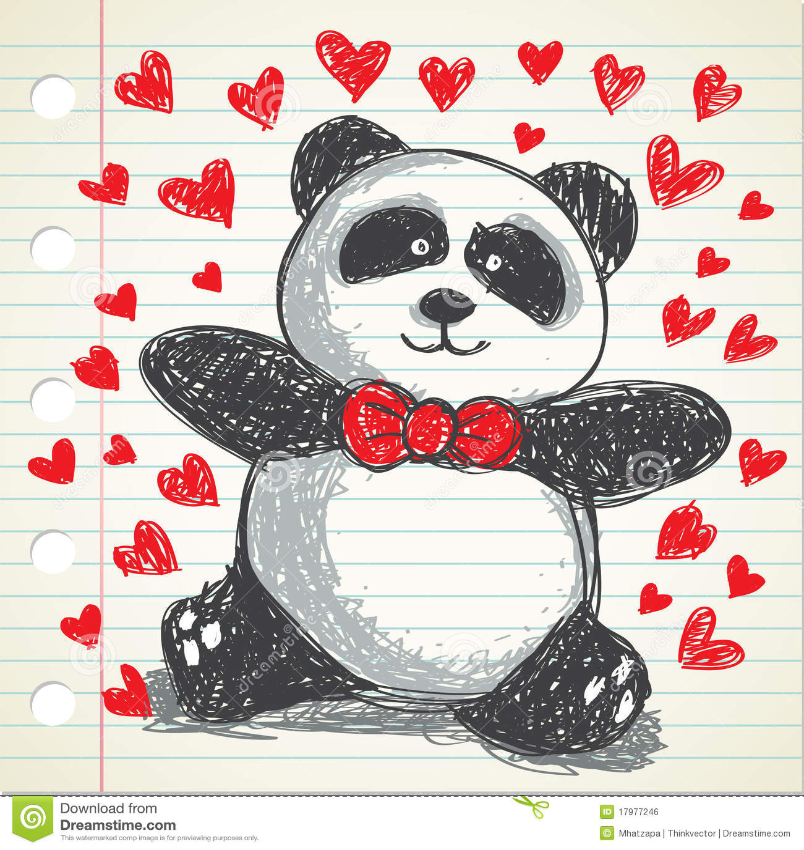 Panda Doodle Stock Illustration Illustration Of Holding