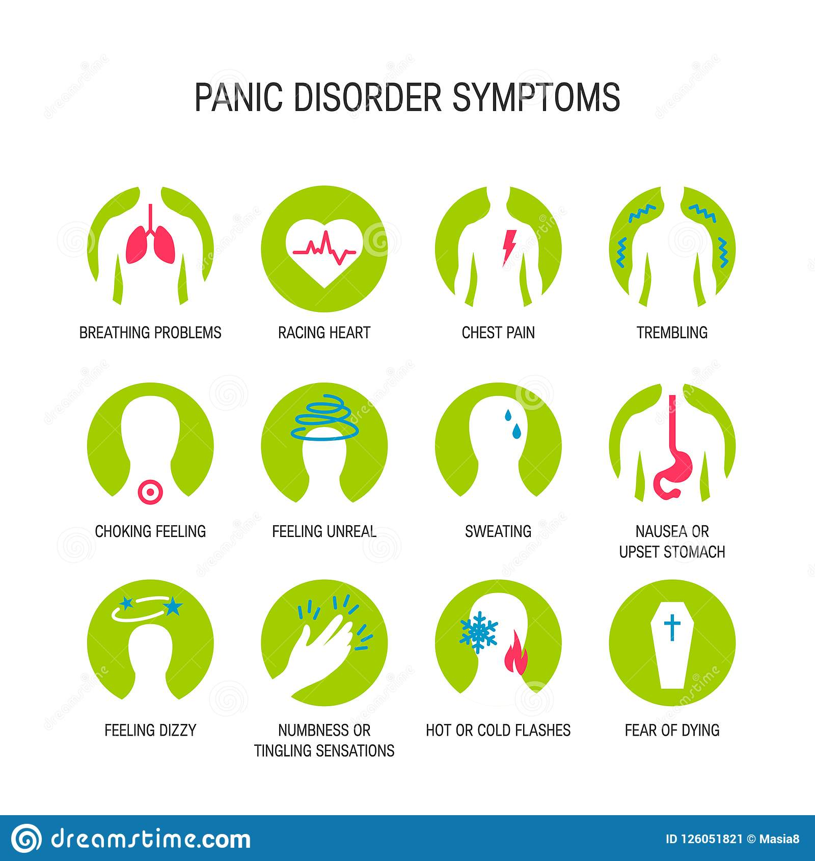hight resolution of panic attack symptoms vector