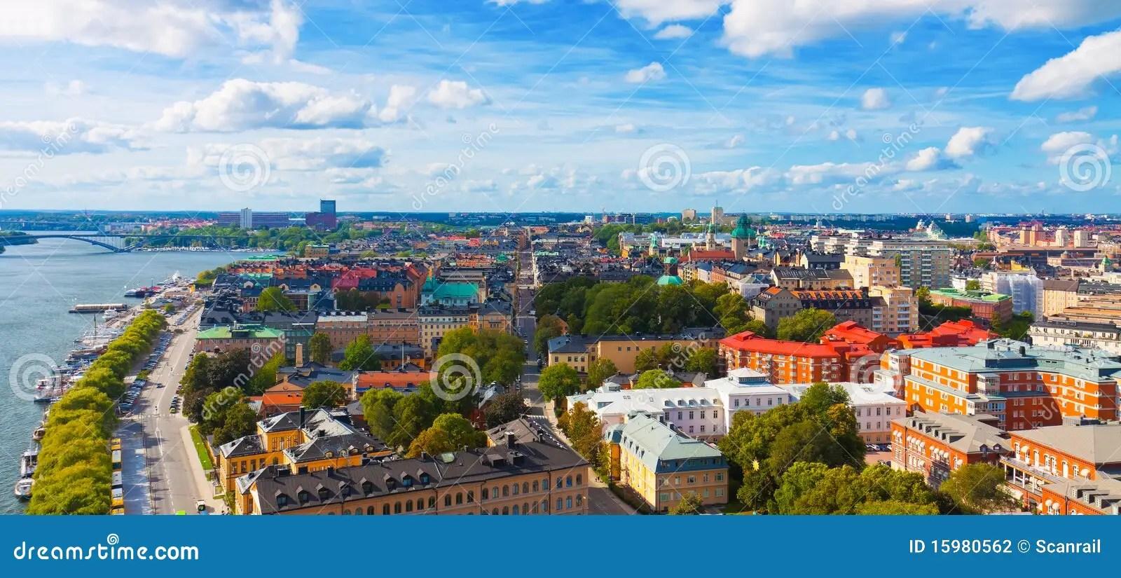Panorama Aereo Di Stoccolma Svezia Fotografia Stock  Immagine di radura chiesa 15980562