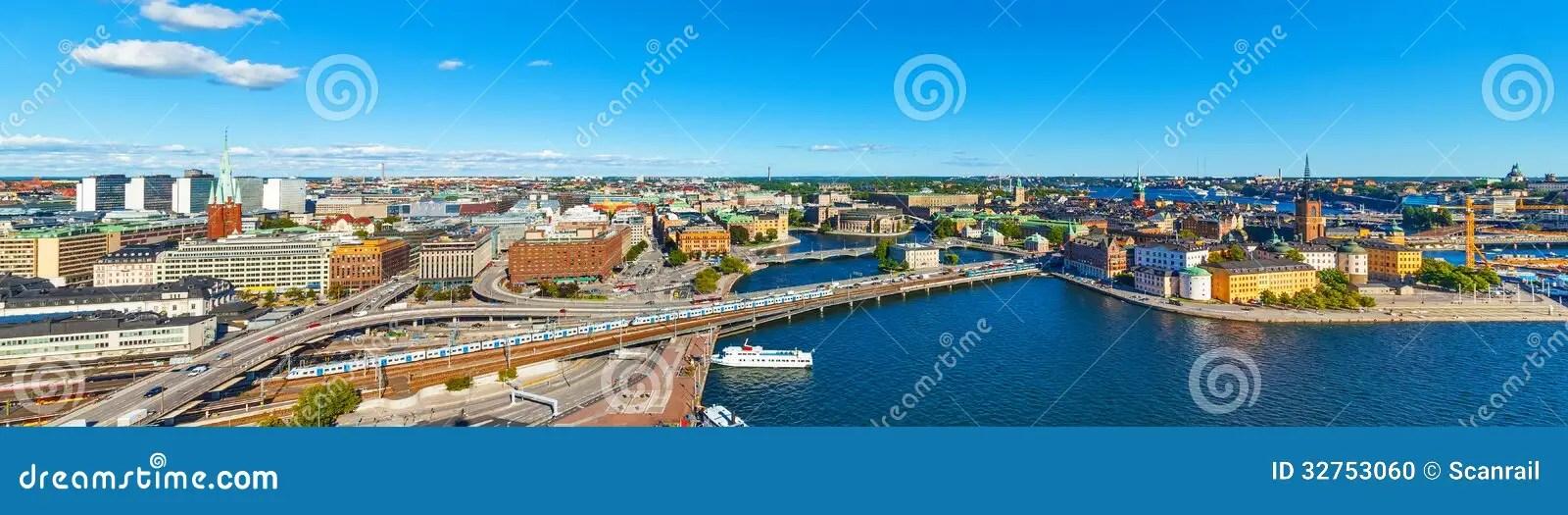 Panorama Aereo Di Stoccolma Svezia Fotografia Stock  Immagine di cityscape bello 32753060