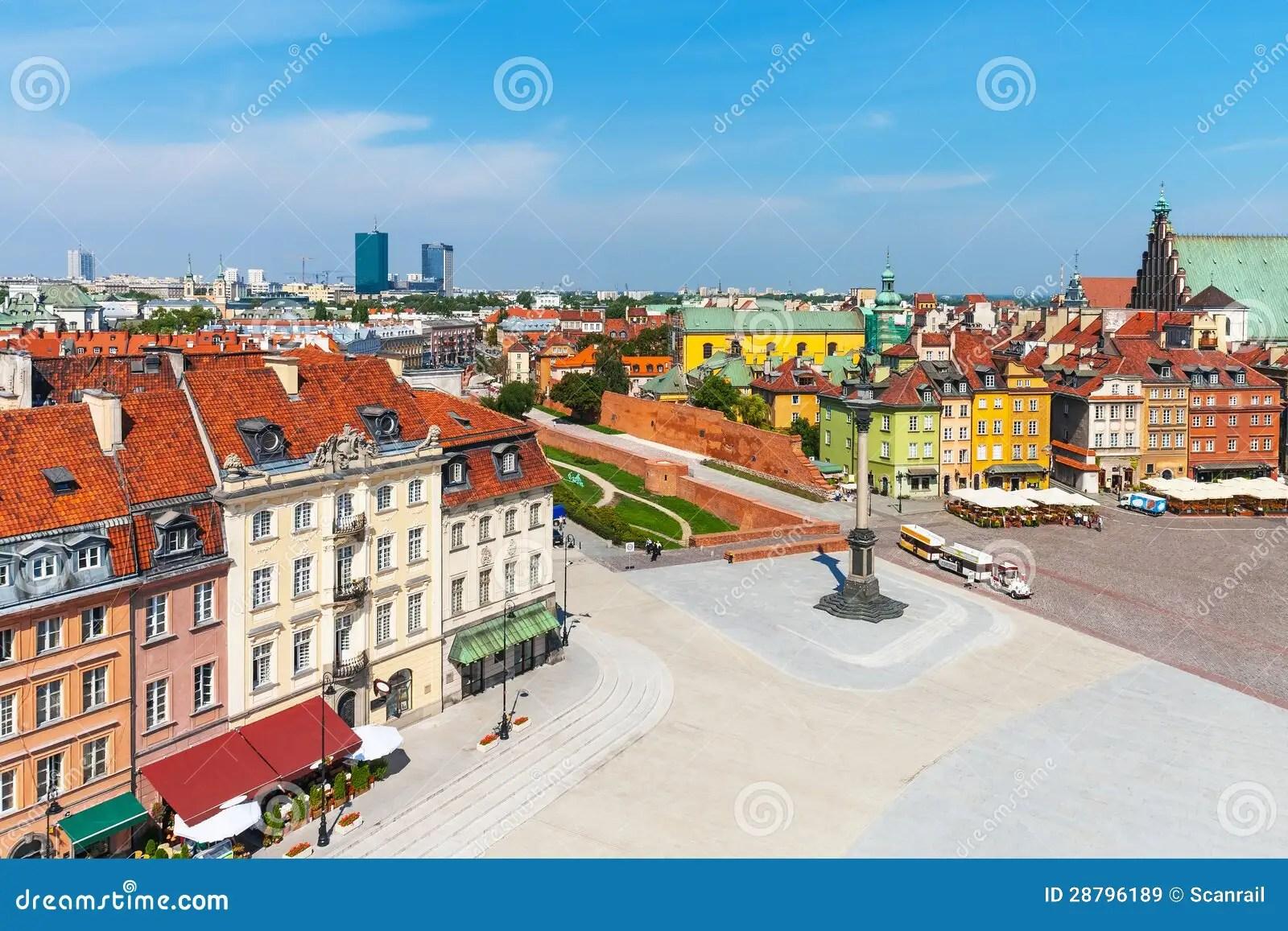 Panorama Aereo Di Varsavia Polonia Immagine Stock  Immagine di paesaggio cityscape 28796189