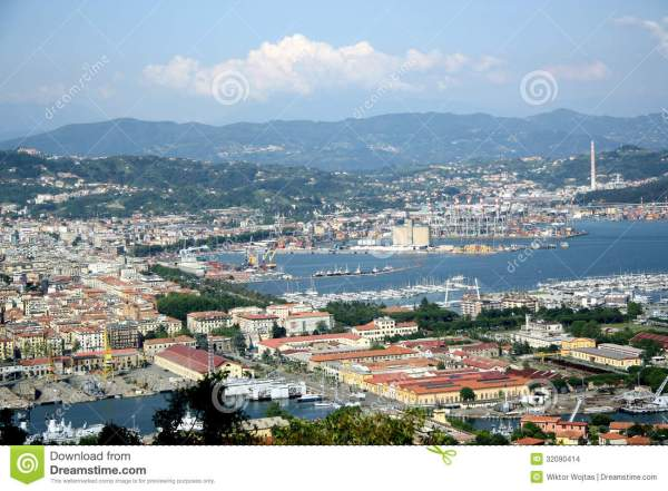 Panorama Of La Spezia Liguria Italy Stock Photo Image