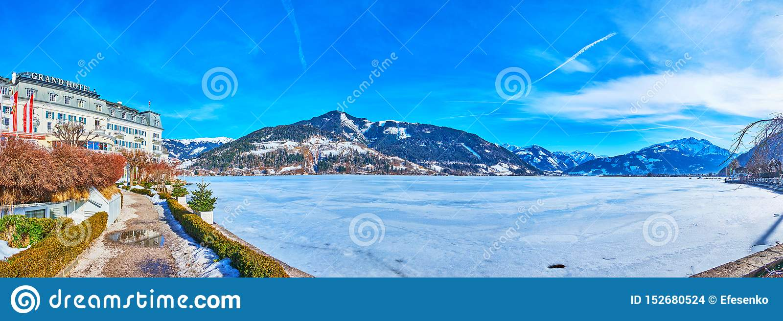 Panorama Of Zeller See Zell Am See Austria Editorial Stock