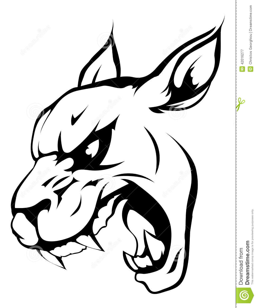 Panther Puma Or Wildcat Mascot Stock Vector