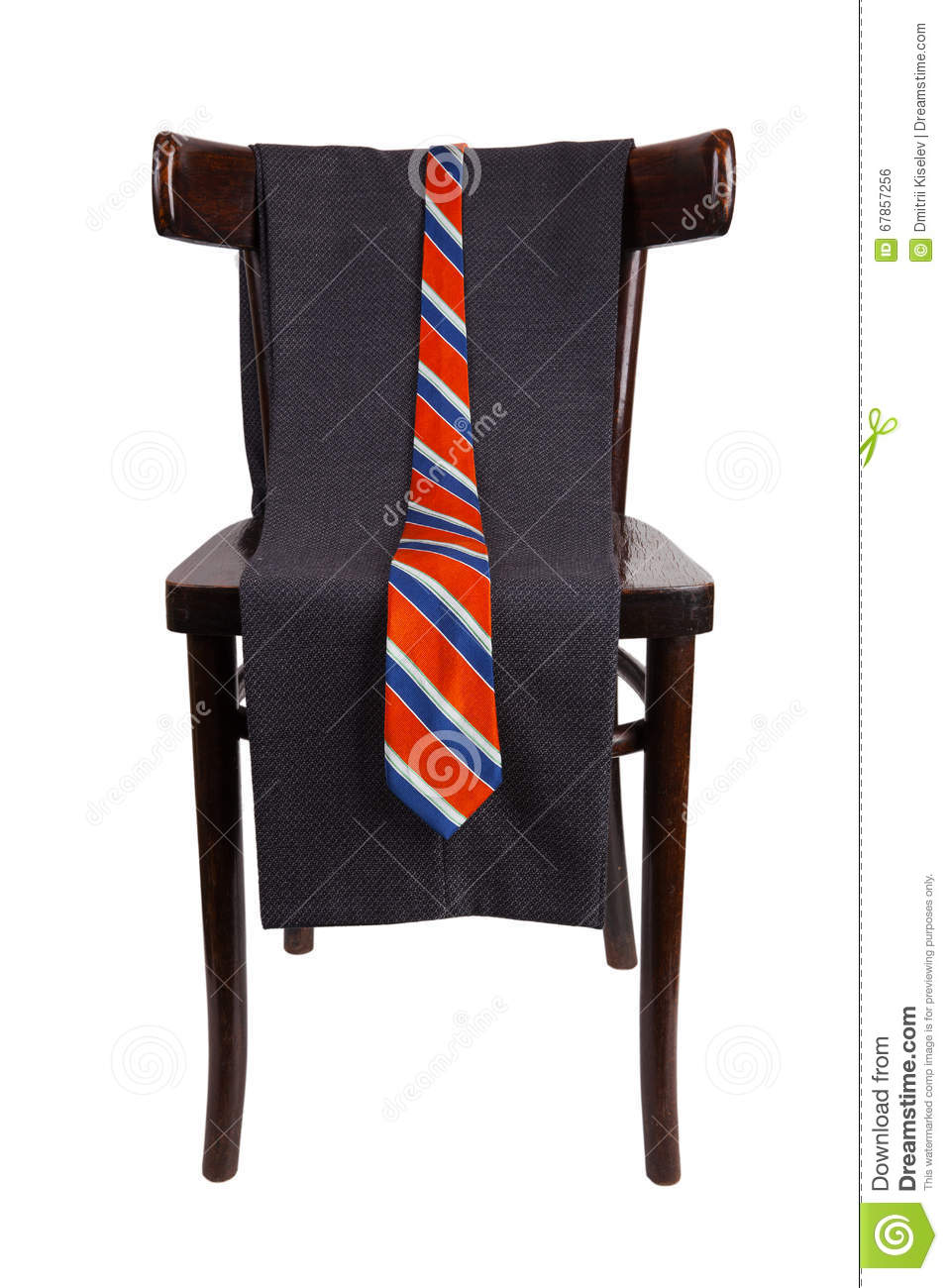 Chair Pants Pants And Tie Hanging On A Chair Stock Photo Image Of Chair