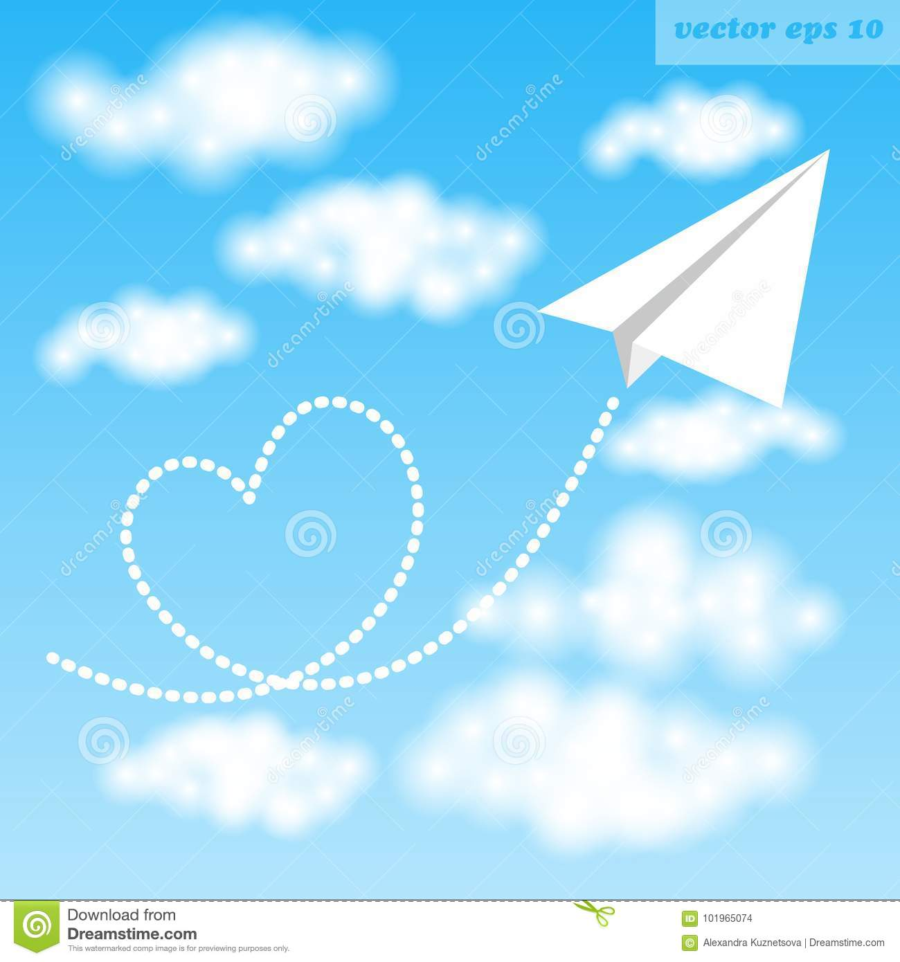 paper airplane stock illustration