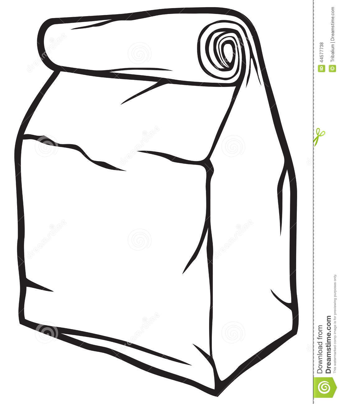 Paper Bag Stock Vector Illustration Of College T