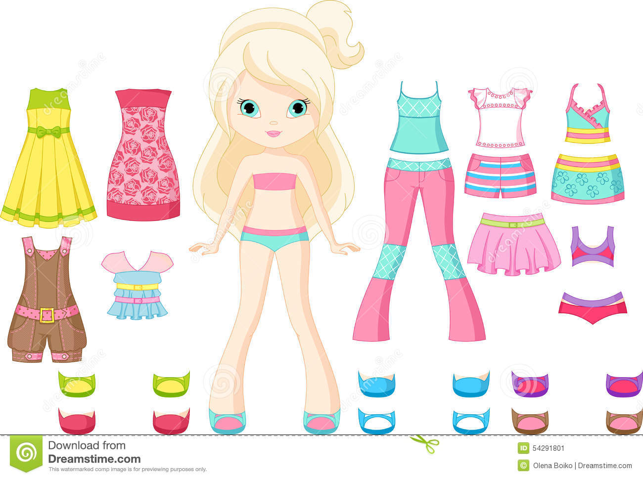 Paper Doll Stock Vector