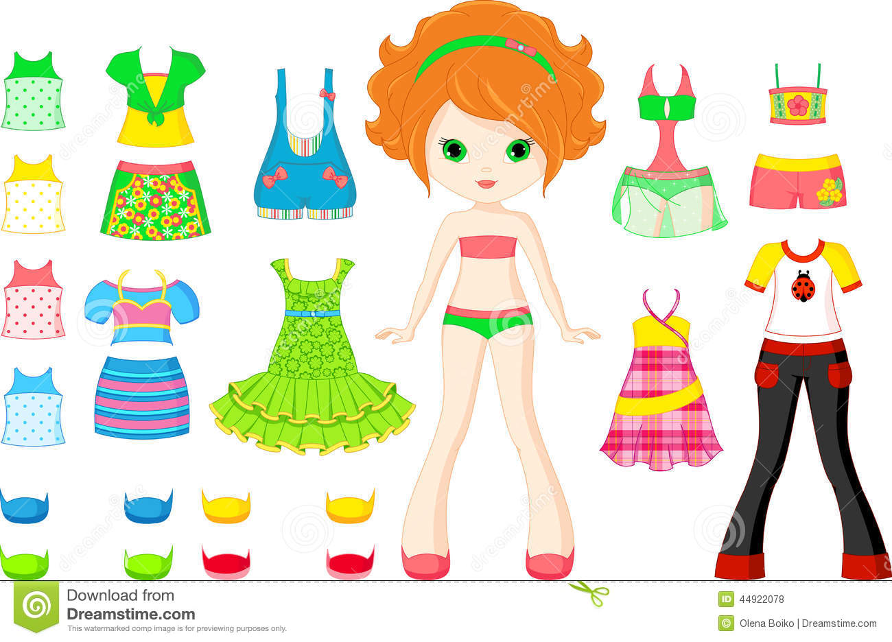 Paper Doll Stock Vector Illustration Of Pants Shorts