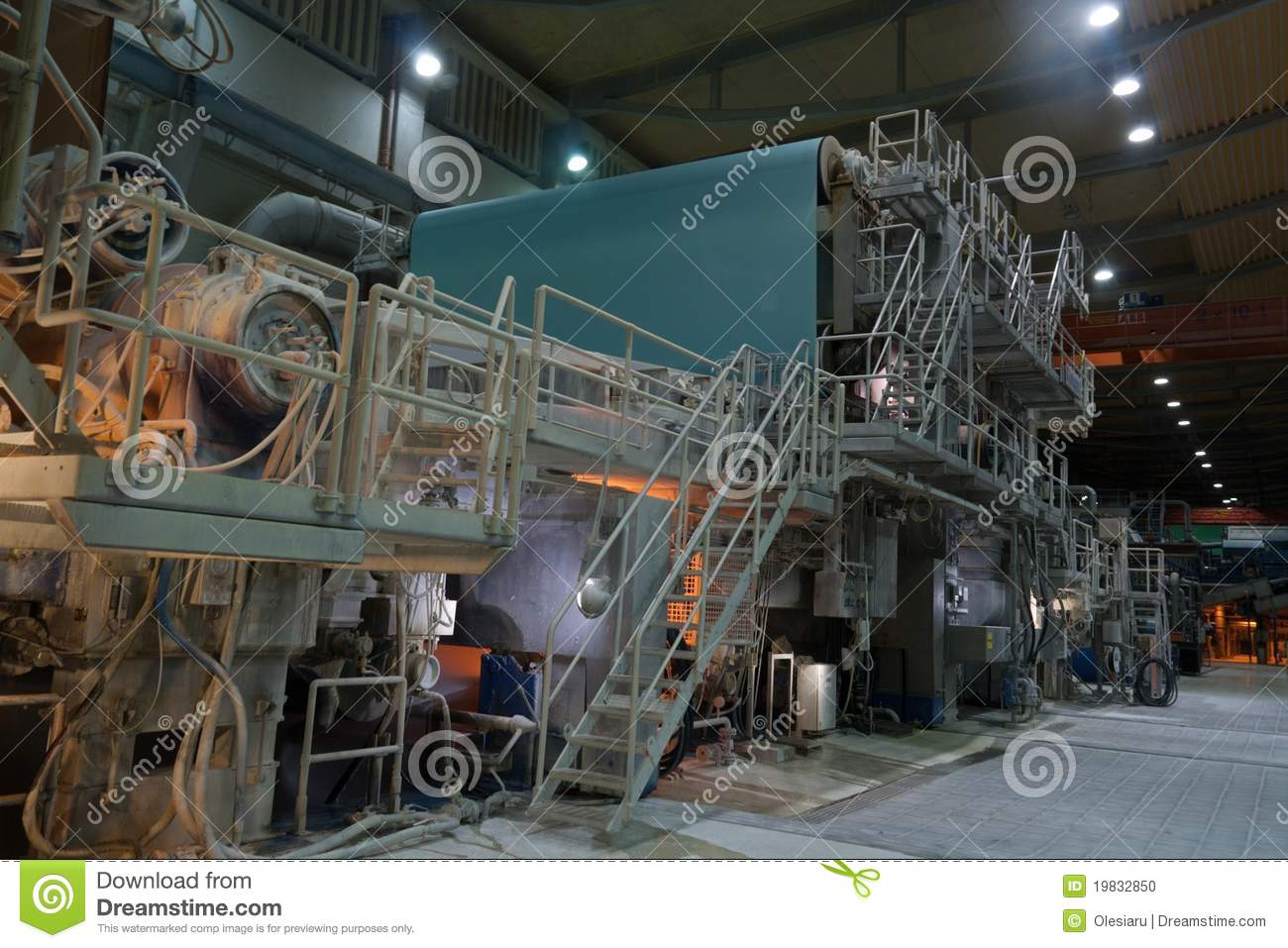 Paper Mill  Inside Panoramic View Stock Photo  Image