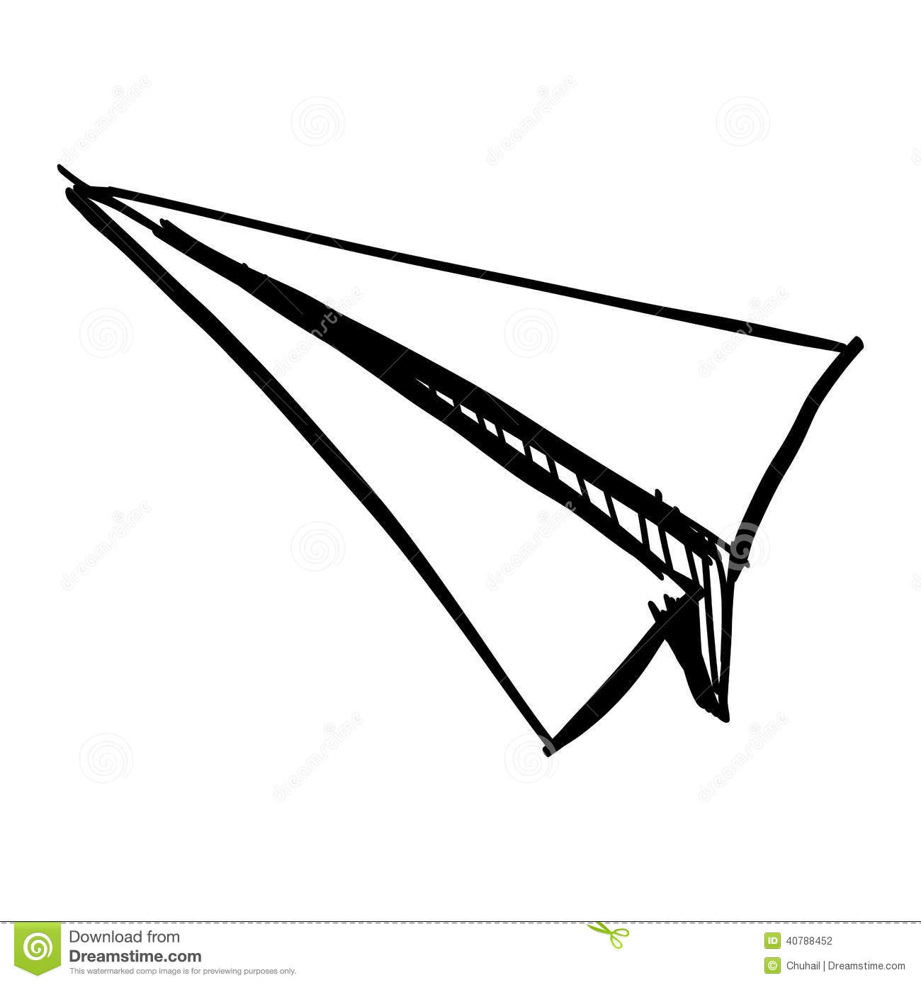 Paper Plane Icon Isolated On White Stock Vector