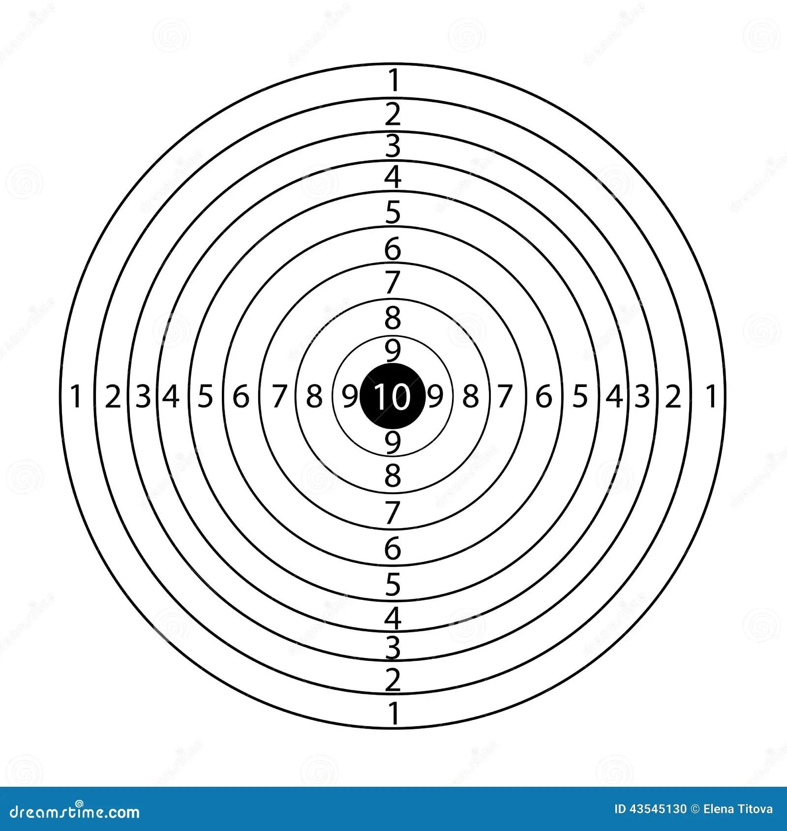 Paper Rifle Target Stock Vector Illustration Of Mark