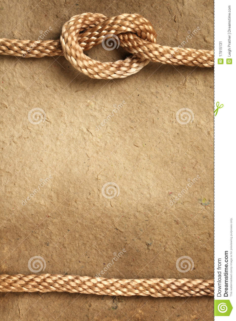 Paper With Rope Border Stock Image  Image 17915131