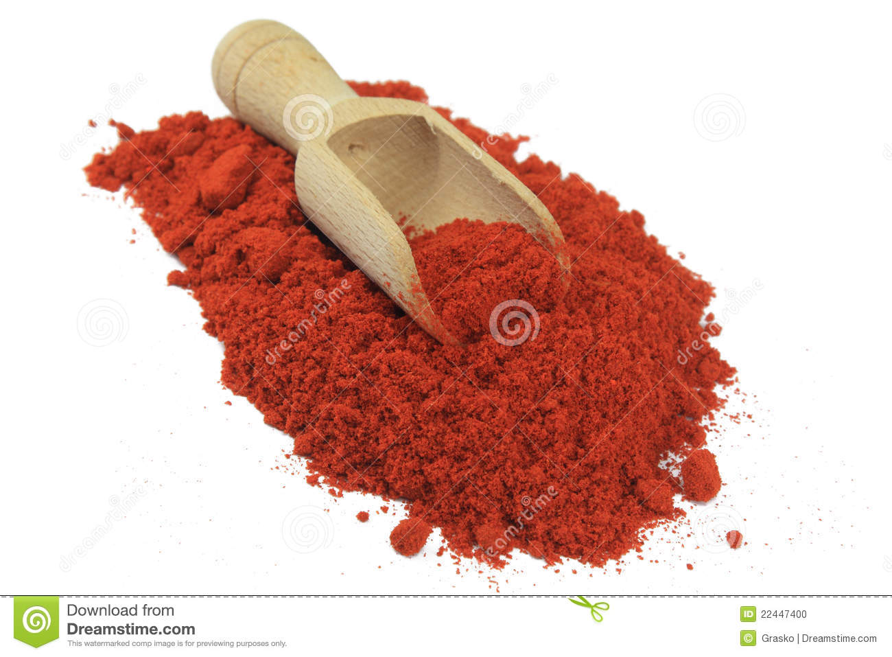 Madeira Gewürz Paprika Spice On A Wooden Spoon Stock Photo - Image Of ...