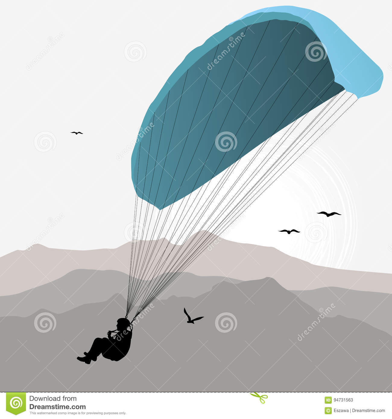Paragliding Cartoons Illustrations  Vector Stock Images