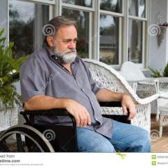 Wheelchair Man Positive Posture Chair Reviews Paraplegic In Royalty Free Stock Photo