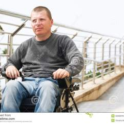 Wheelchair Man Hollywood Regency Chairs Paraplegic Royalty Free Stock Photos Image