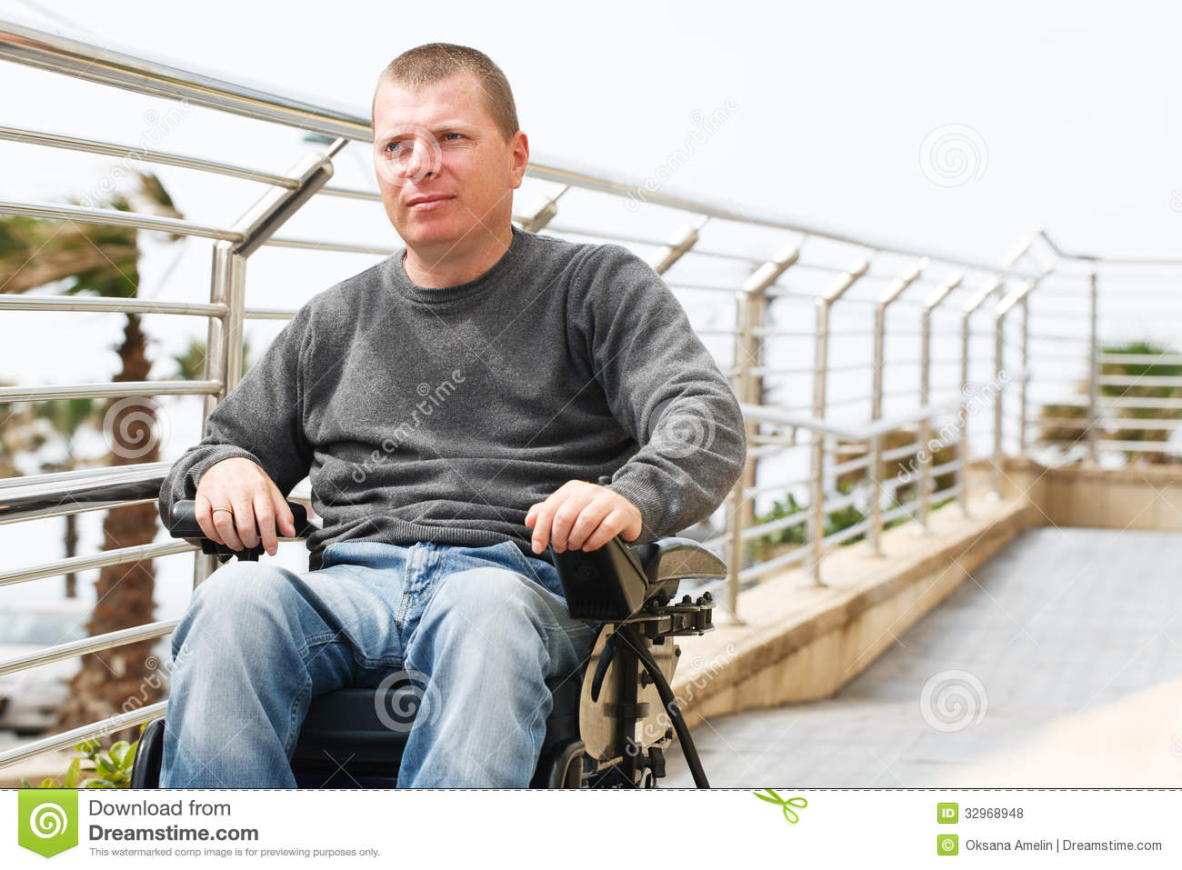 wheelchair man swivel chair habitat paraplegic royalty free stock photos image
