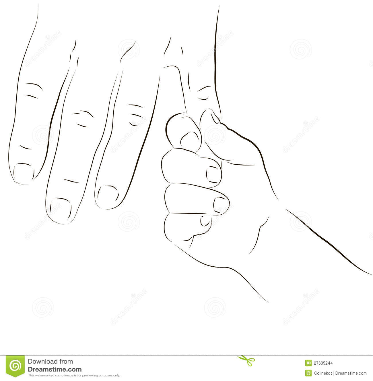 Parent And Baby Hand Stock Illustration Illustration Of