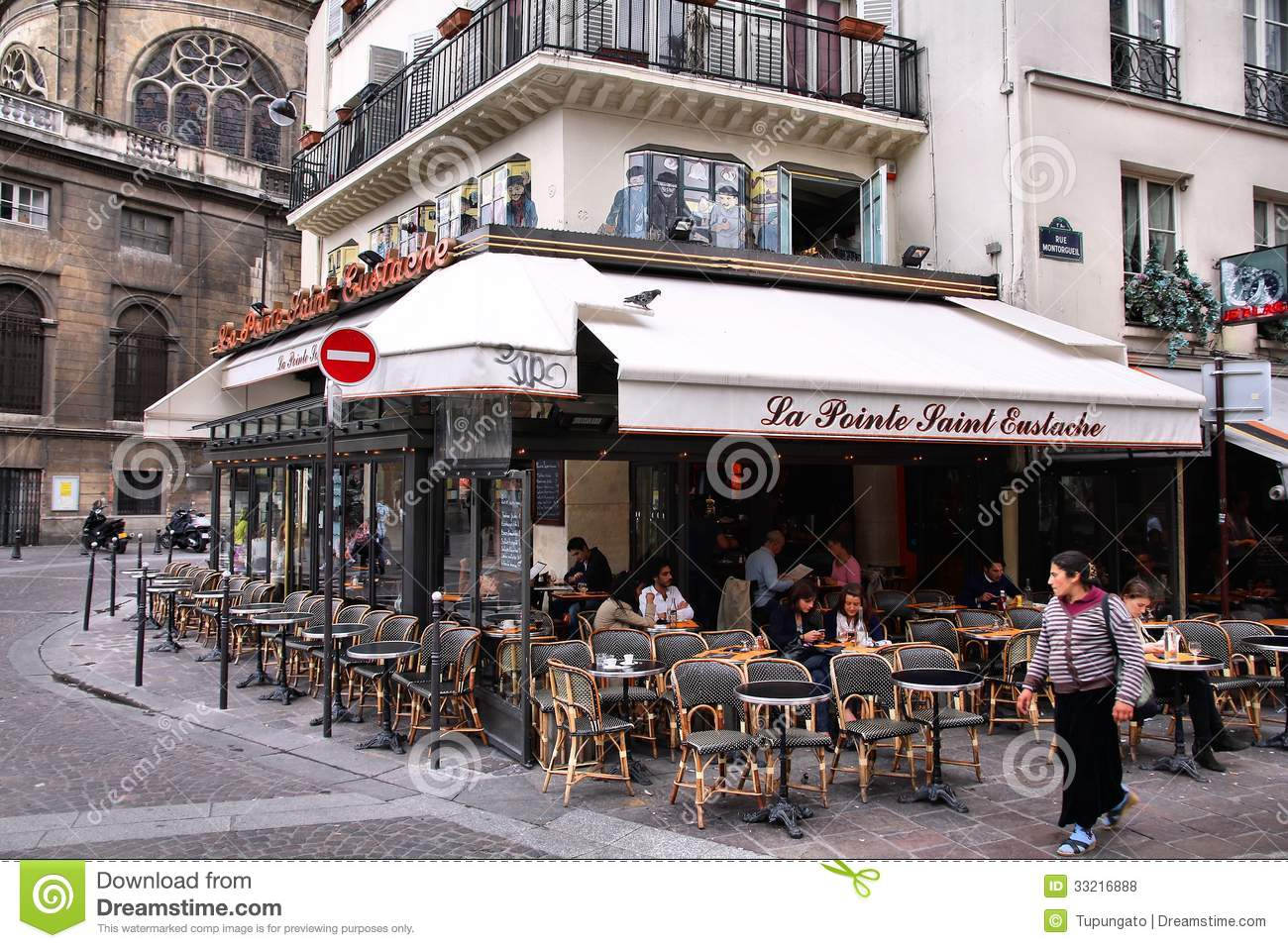 french cafe chairs glider chair covers paris editorial stock photo. image of exterior, table - 33216888