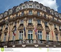 Paris - Hotel Scribe Editorial Stock Of