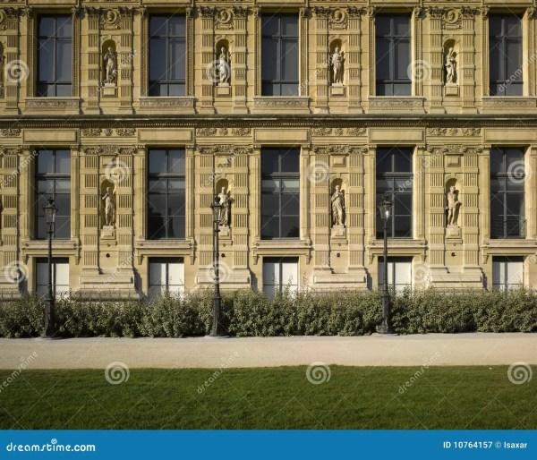 Paris Le Louvre Walls Royalty Free Stock - 10764157