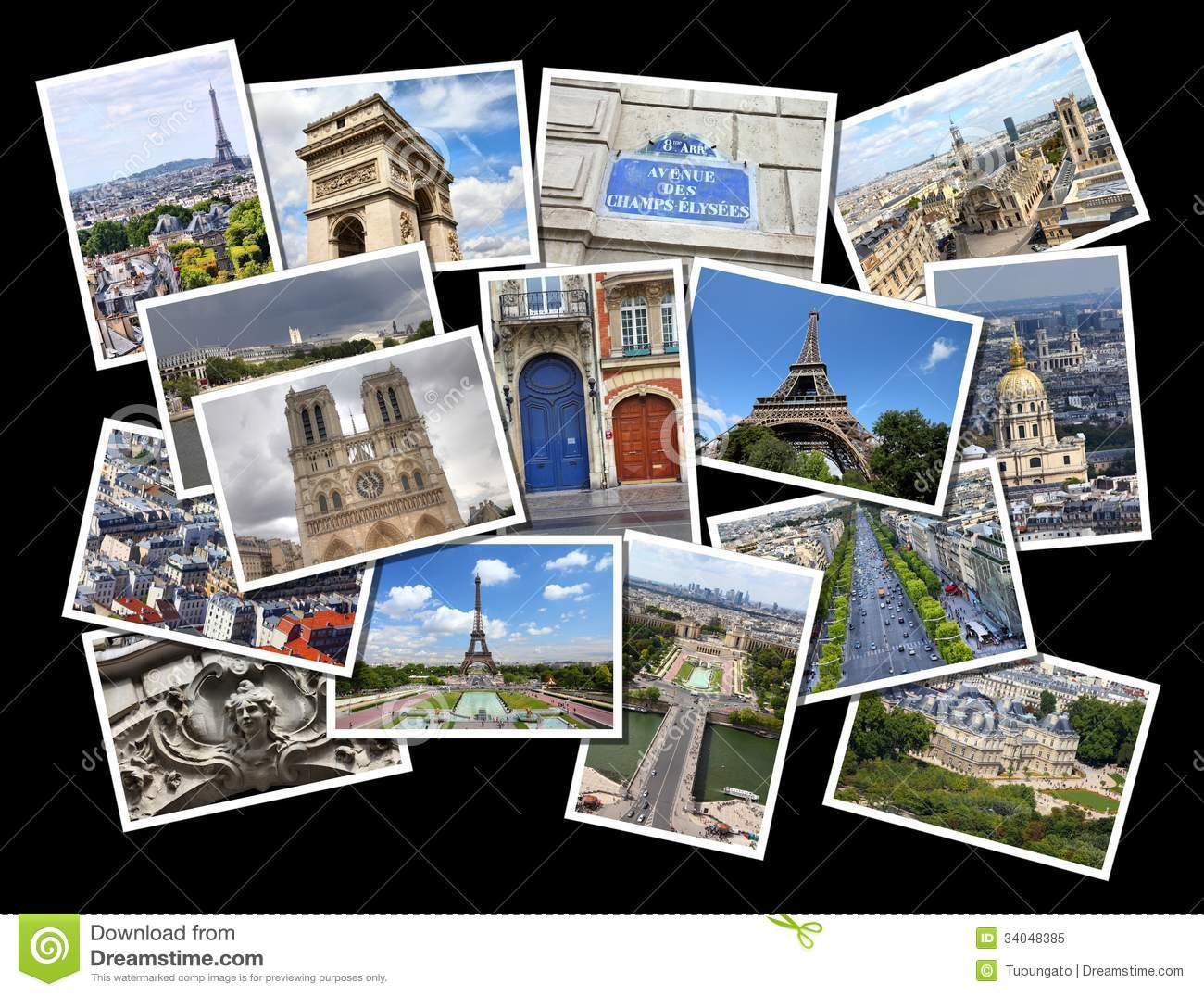 Paris Photos Stock Image Image Of Concept Frames French