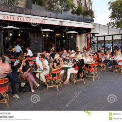 Restaurant Chairs For Less Outdoor Directors Canvas Paris At Dinner Time Editorial Photography - Image: 45285712