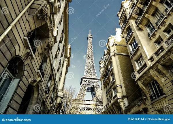 Paris Street Eiffel Tower France Stock - Of