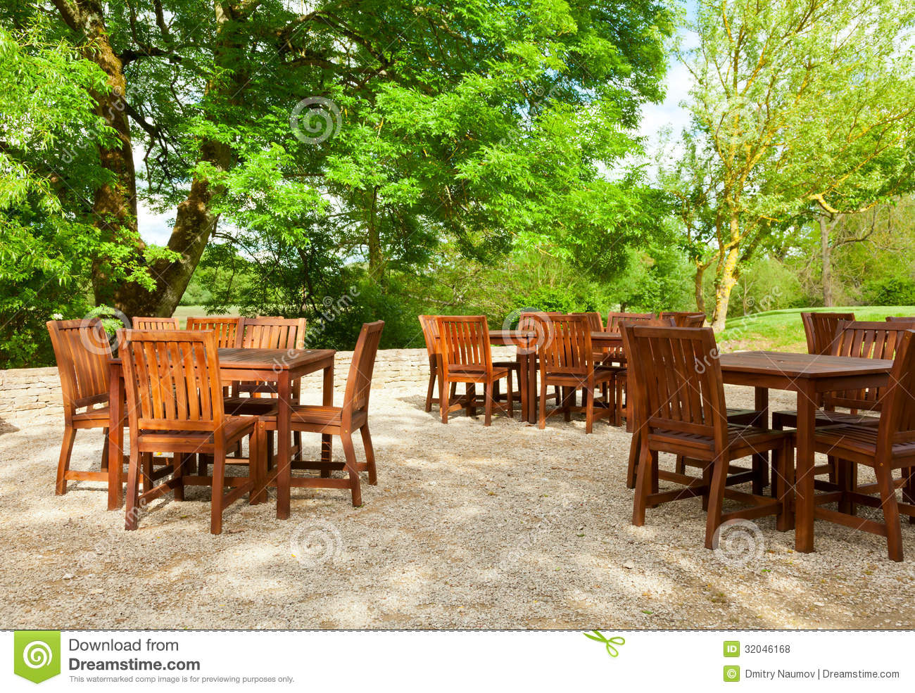Outdoor Cafe Chairs Park Cafe Stock Photo Image Of Cafe Chair Leaves