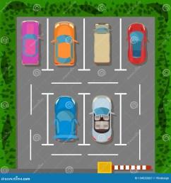 parking lot concept banner cartoon style [ 1600 x 1689 Pixel ]
