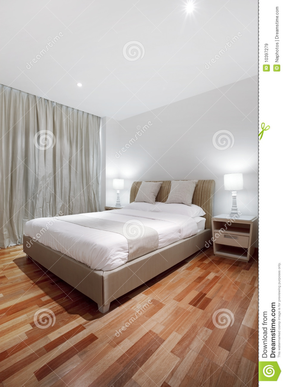 Parquet floor in bedroom stock image Image of awake
