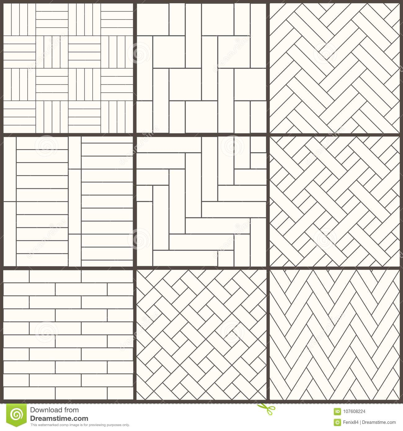 Parquet Pattern Seamless Surface Design With White Slant