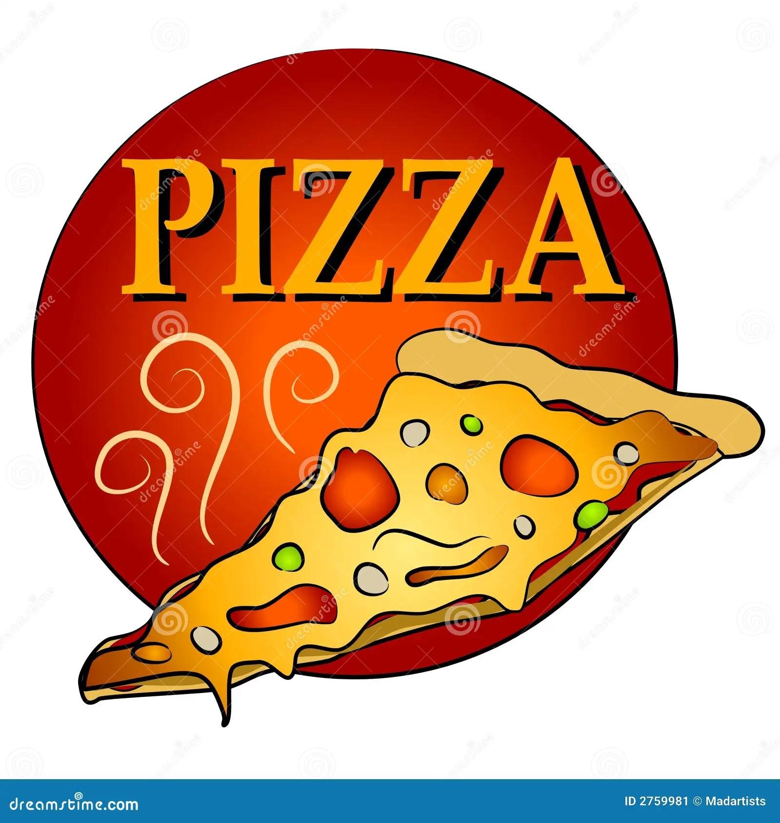 Part De Pizza Chaude Clipart Image Stock Image 2759981