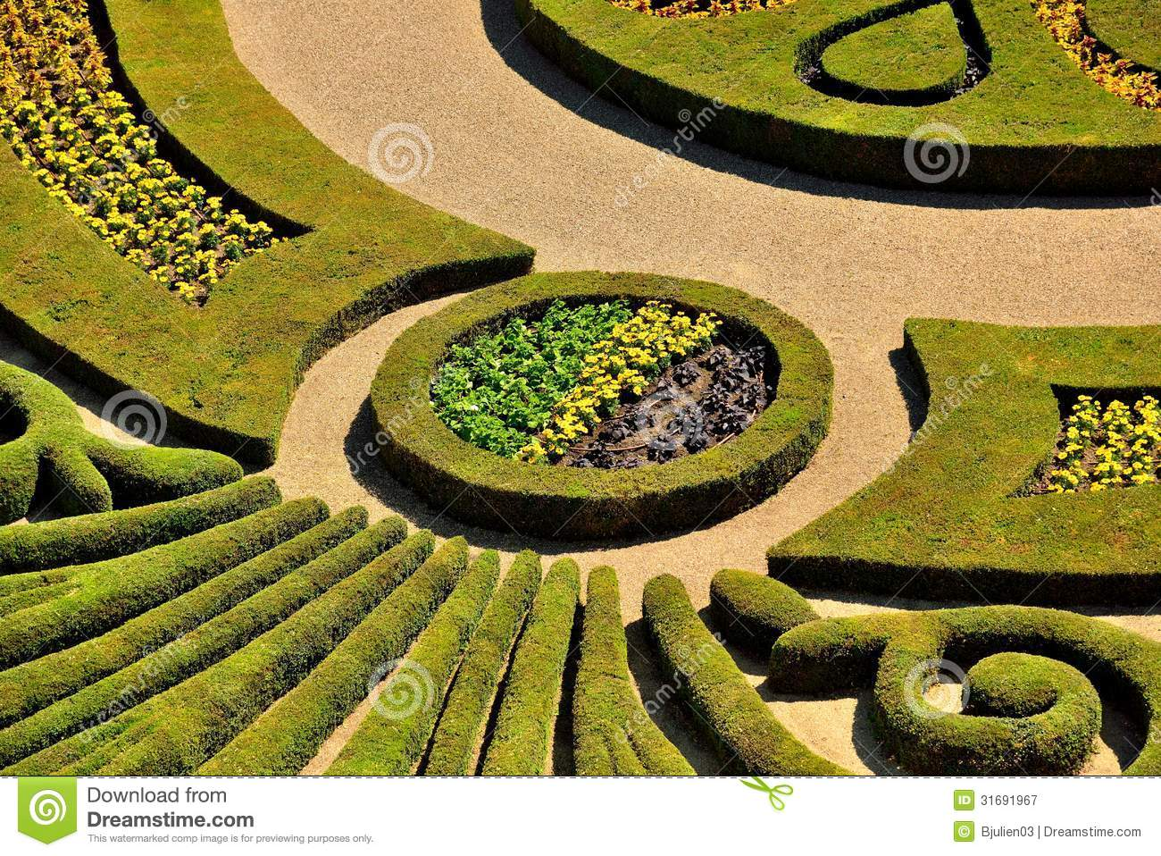Parterre In A French Formal Garden Royalty Free Stock