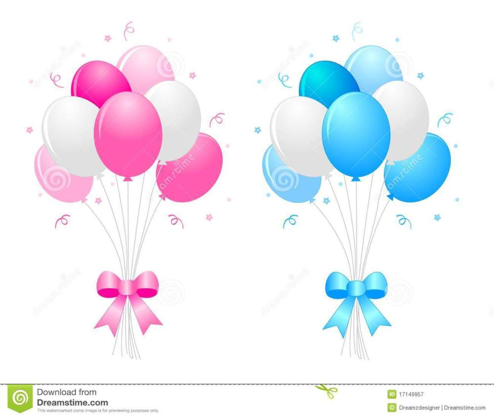medium resolution of illustration of a bunch of multi colored 9pink blue and white balloons with curly ribbons clipart isolated on white background