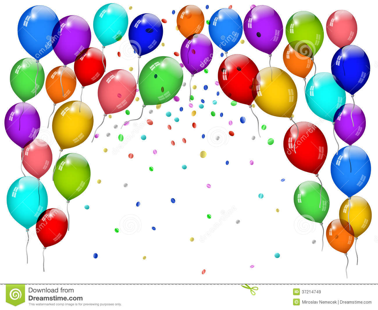 hight resolution of party balloons