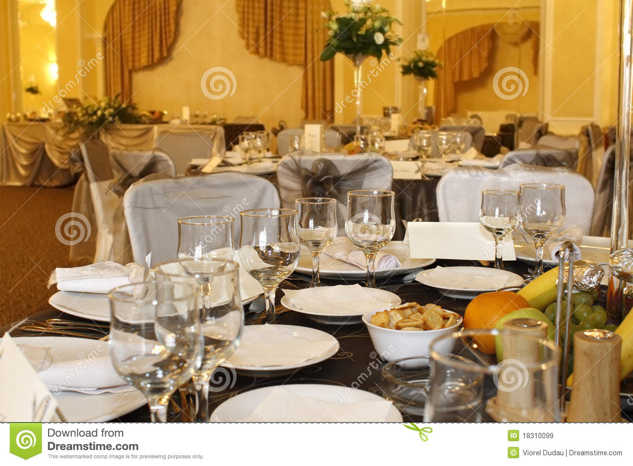 Party Decorations For Corporate Lunch Royalty Free Stock