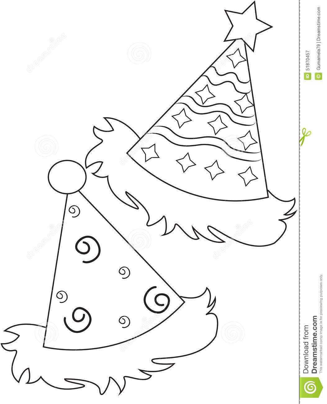 Coloring Page Outline Of Cartoon Girl Chef With Cake Cartoon Vector