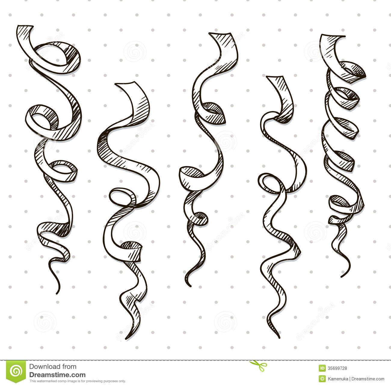 Party Serpentine. Ribbons. Celebration. Vector Stock