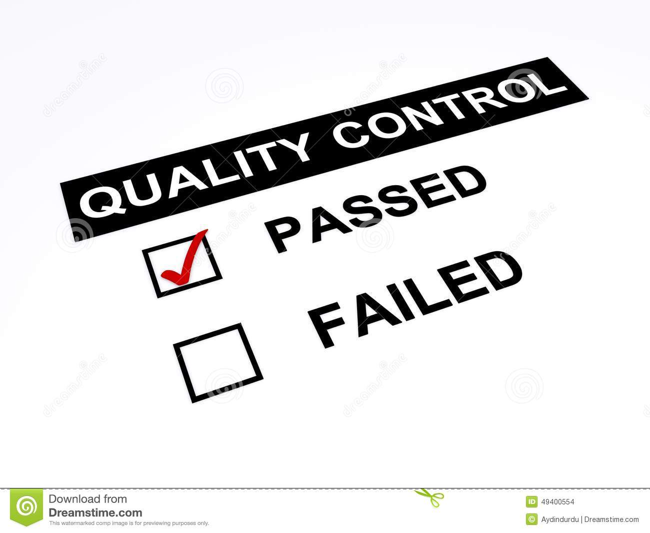 Passed Quality Control Stock Illustration Illustration Of