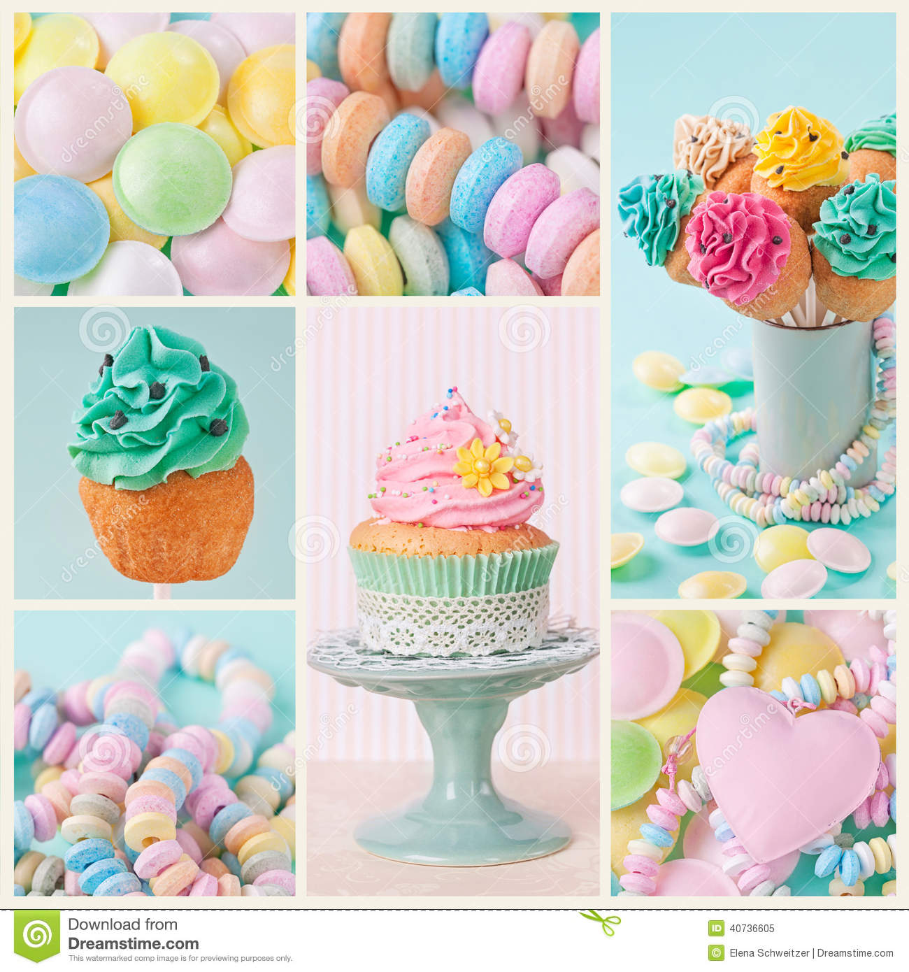 Cute Popsicle Wallpaper Pastel Colored Sweets Stock Image Image Of Bright Blue