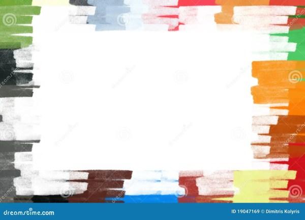Pastel Colors Border Frame Illustration Royalty Free Stock