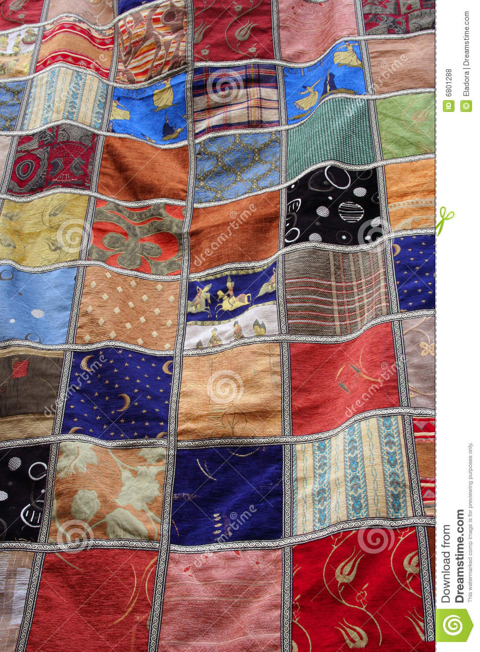 Patchwork Quilt Blanket Stock Photo Image Of Background